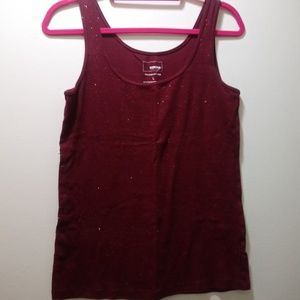 3 for $10💖Sonoma Sparkly Burgundy Tank Top L